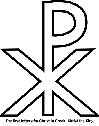 Chi Rho - The first letters for Christ in Greek. Christ the King.